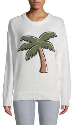 ENGLISH FACTORY Palm Graphic Sweater
