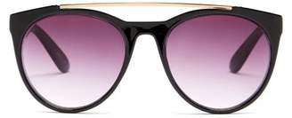 Betsey Johnson 52mm Oval With Top Bar Sunglasses