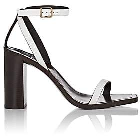 Saint Laurent Women's Loulou Strappy Sandals - White