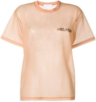 Helmut Lang In Lang With Trust sheer T-shirt