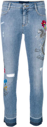 Ermanno Scervino embroidered skinny jeans