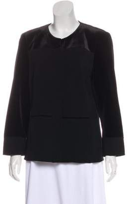 Akris Structured Button-Up Jacket Black Structured Button-Up Jacket