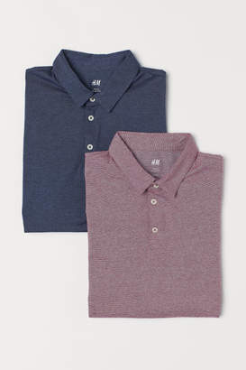 H&M 2-pack Slim Fit Polo Shirts - Blue
