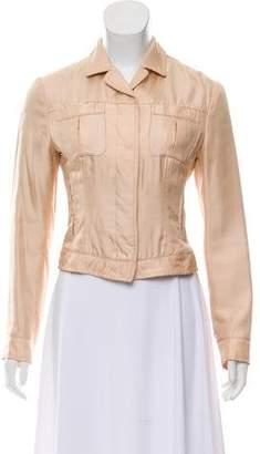 Prada Silk Button-Up Jacket