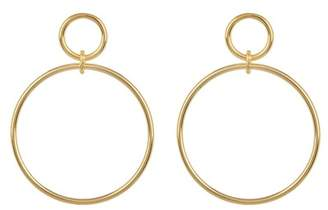 Argentovivo 18K Gold Plated Sterling Silver Double Drop Open Circle Earrings