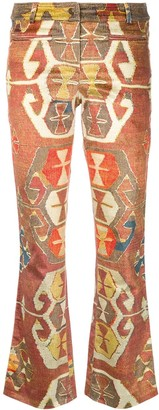 Christian Dior Pre-Owned Geometric printed trousers