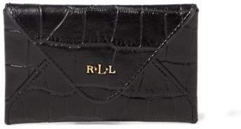Ralph Lauren Embossed Newbury Card Case Black One Size