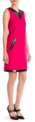 Moschino V-Neck Zip Pocket Shift Dress