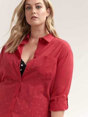 Cotton Button-Down Swim Cover-Up - Sea
