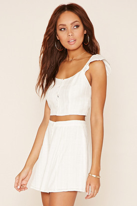 FOREVER 21+ Button Front Crop Top $14.90 thestylecure.com