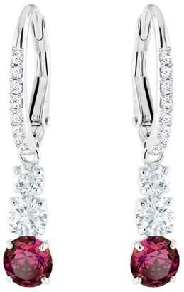 Swarovski Attract Trilogy Ruby Crystal Drop Earrings