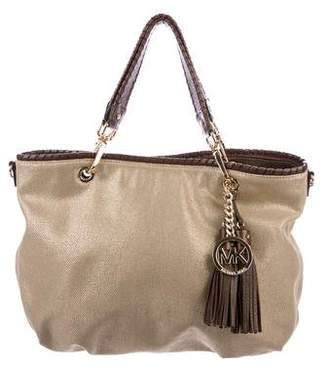 MICHAEL Michael Kors Leather- Trimmed Hobo
