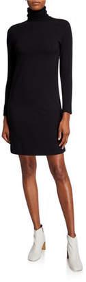 Neiman Marcus Majestic Paris for Long-Sleeve Turtleneck Dress