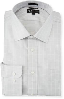 Neiman Marcus Men's Classic-Fit Texture Check Dress Shirt