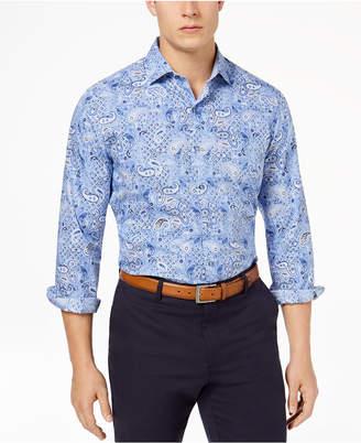 Tasso Elba Men's Supima® Cotton Printed Shirt, Created for Macy's