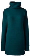 classic Women's Lofty Turtleneck Tunic Sweater-Radiant Navy $69 thestylecure.com