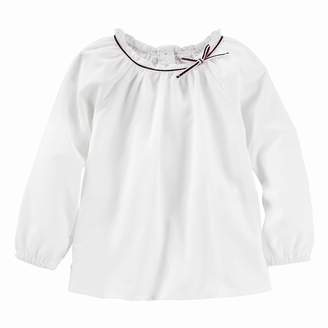Osh Kosh Oshkosh Bgosh Toddler Girl Long Sleeve Textured Woven Top