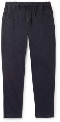 Folk Linen and Cotton-Blend Trousers - Men - Navy
