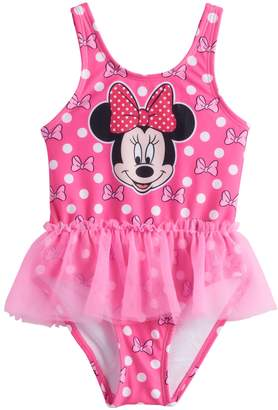 Disneyjumping Beans Disney's Minnie Mouse Baby Girl One-Piece Tutu Swimsuit by Jumping Beans