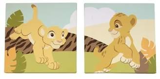 Disney Baby 2 Piece Lion King Canvas Art Set