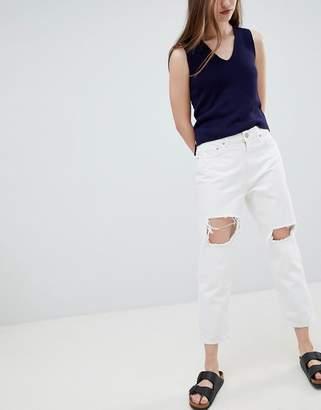 WÅVEN Aki Ripped Knee Boyfriend Jeans