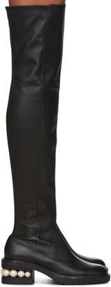 Nicholas Kirkwood Black Casati Pearl Over-The-Knee Boots