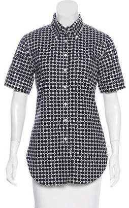 Black Fleece Printed Button-Up Top w/ Tags