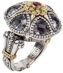 Konstantino Pythia Floral Crystal & Corundum Ring
