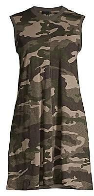 ATM Anthony Thomas Melillo Women's Camouflage Slub Jersey Tank Dress