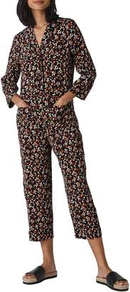 Whistles Peony Print Relaxed Jumpsuit