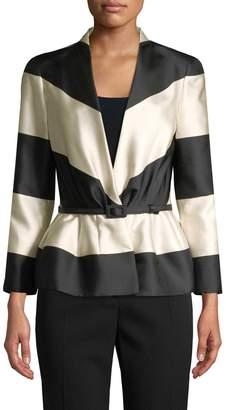 Carolina Herrera Women's Striped Belted Blazer