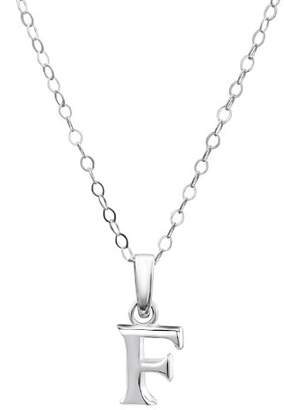 Jo for Girls Sterling Silver Initial F Pendant