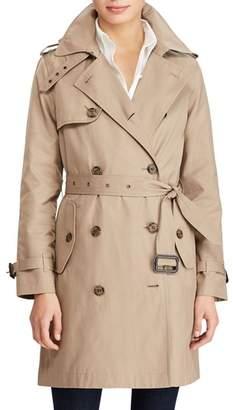 Lauren Ralph Lauren Cotton Blend A-Line Trench Coat
