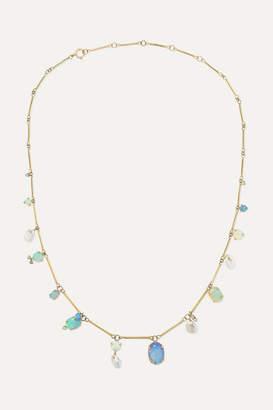 WWAKE Net Sustain 14-karat Gold Multi-stone Necklace