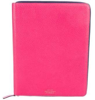 Smythson Grained Leather iPad Case