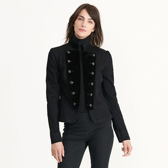 Ralph Lauren Peplum Denim Military Jacket $198 thestylecure.com