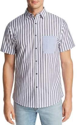 Sovereign Code Union Short-Sleeve Mixed-Stripe Regular Fit Shirt