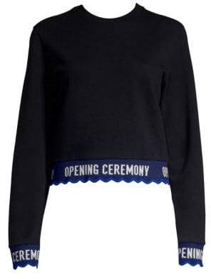 Opening Ceremony Cropped Logo Sweatshirt
