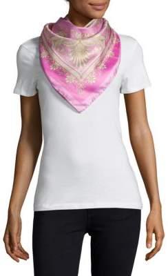 VersaceCarre Printed Silk Foulard Scarf