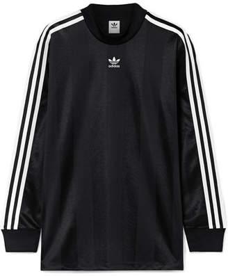 adidas Striped Satin-jersey Top - Black