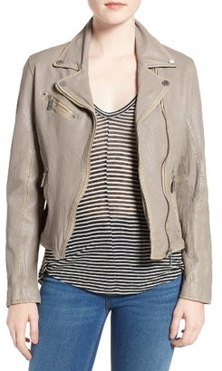 Women's Mauritius Leather Moto Jacket $249 thestylecure.com