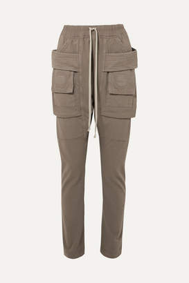 Rick Owens Creatch Cotton-jersey Cargo Pants - Gray