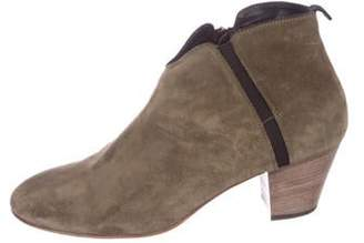 Aquatalia Suede Ankle Booties Olive Suede Ankle Booties