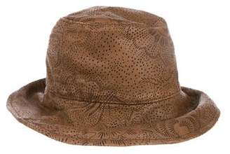 Pre-Owned at TheRealReal · Burberry Perforated Leather Bucket Hat d00befed4c2