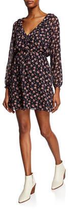 Joie Marelle Floral Long-Sleeve Short Dress