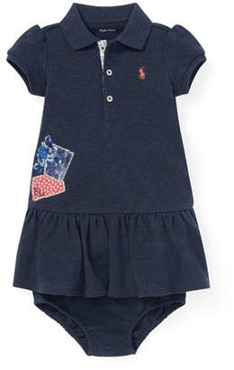 Ralph Lauren Childrenswear Patchwork Dress w/ Bloomers, Size 6-24 Months