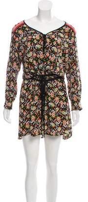 Veronica Beard Printed Silk Mini Dress