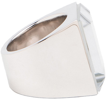 Maison Martin Margiela Mirrored Brass Ring in Silver