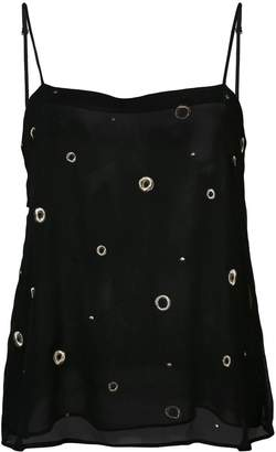 Vince sheer embroidered top