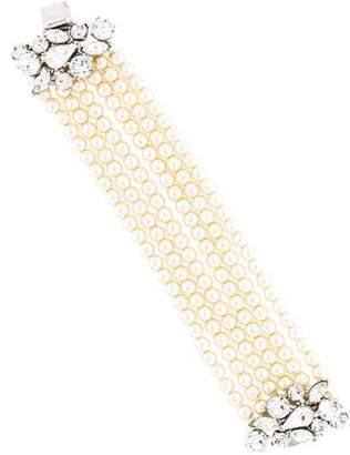 Ben-Amun Ben Amun Faux Pearl & Crystal Multistrand Bracelet